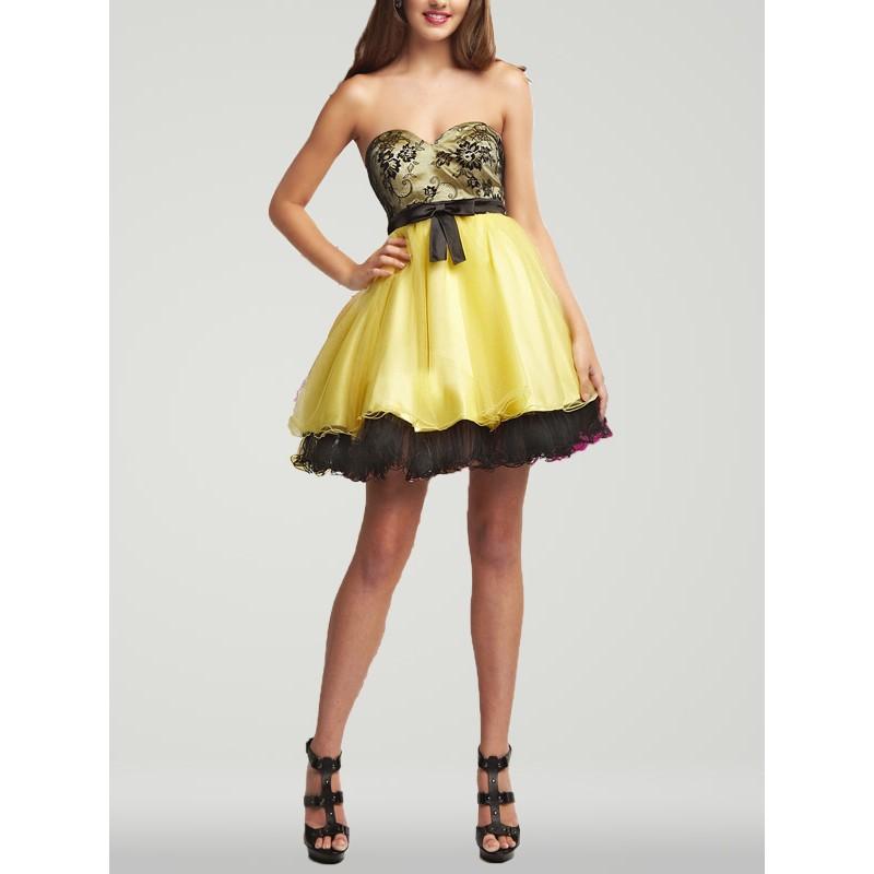Black And Yellow Bridesmaid Dresses: Bridesmaid dress idea yellow ...