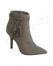 grey ankle heel