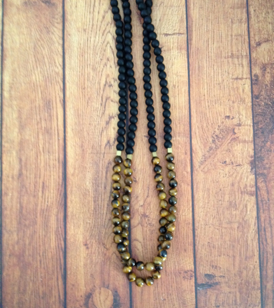 healing onyx bead necklace