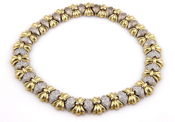 heavy link pave diamond necklace