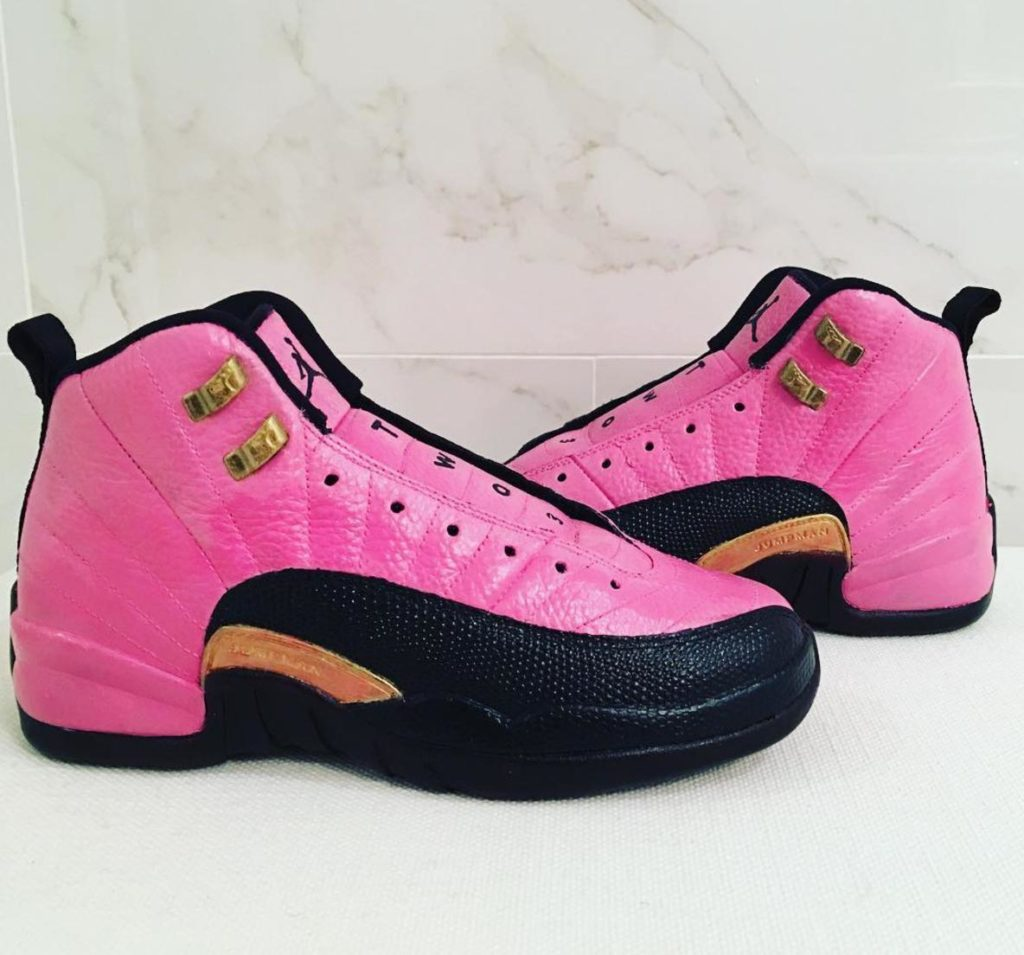 custom Jordans pink