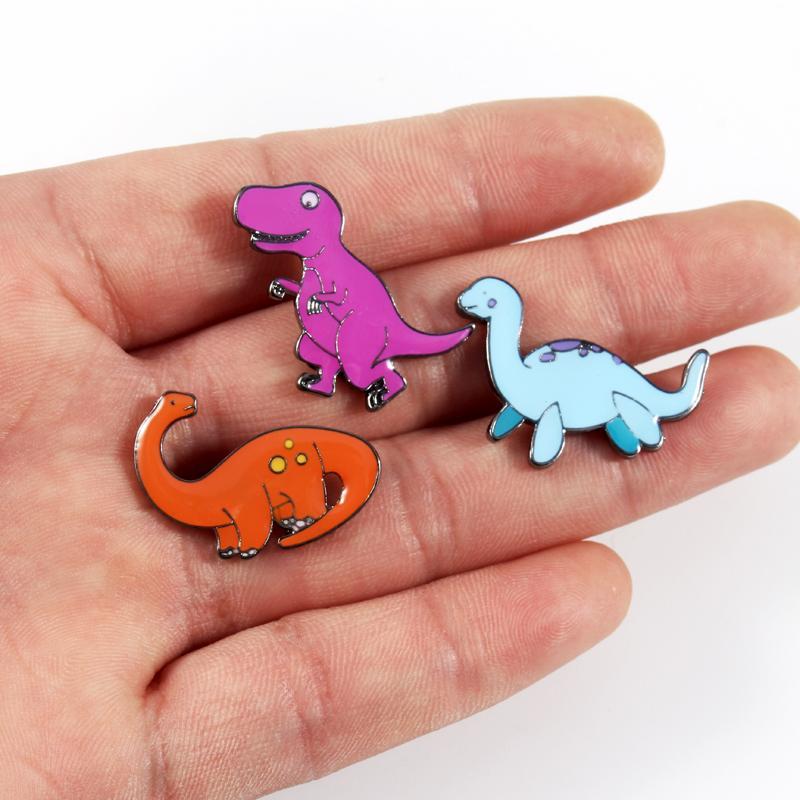cute dinosaur brooches